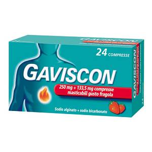 GAVISCON 24COMPRESSE FRAGOLA250+133,5MG