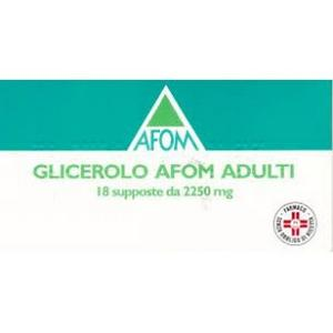 GLICEROLO AFOM ADULTI 18 SUPPOSTE 2250 MG