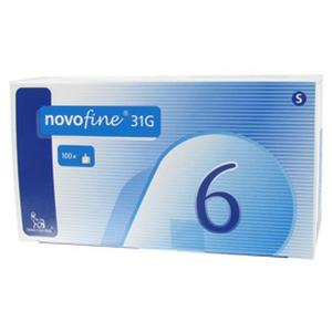NOVOFINE 100 AGHI  31 G 6 MM X 0,25