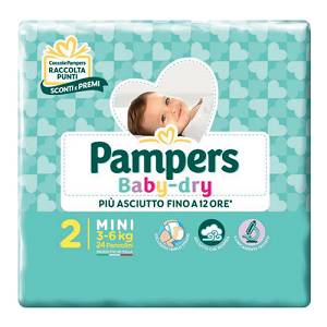 PAMPERS BABY DRY MINI 24 PEZZI