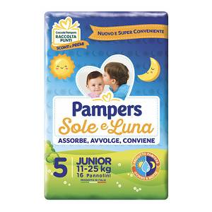 PAMPERS SOLE&LUNA FLASH JUNIOR 16PEZZI